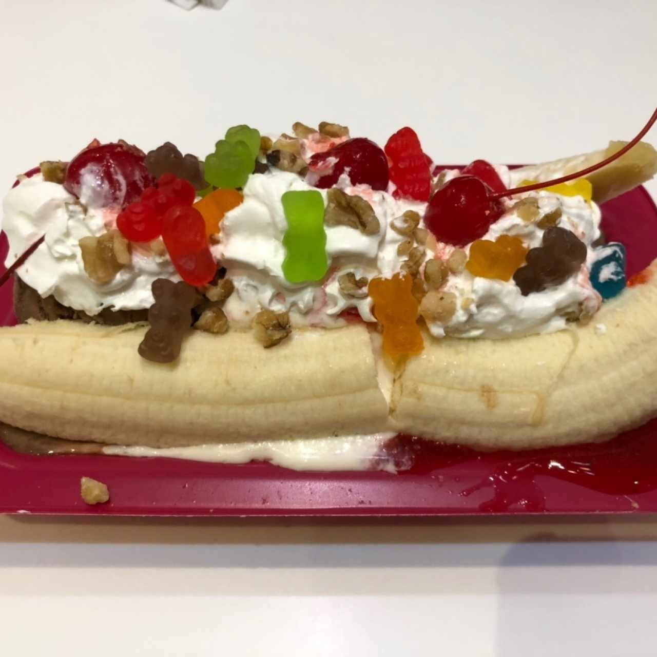 Banana Split con Gummy Bears