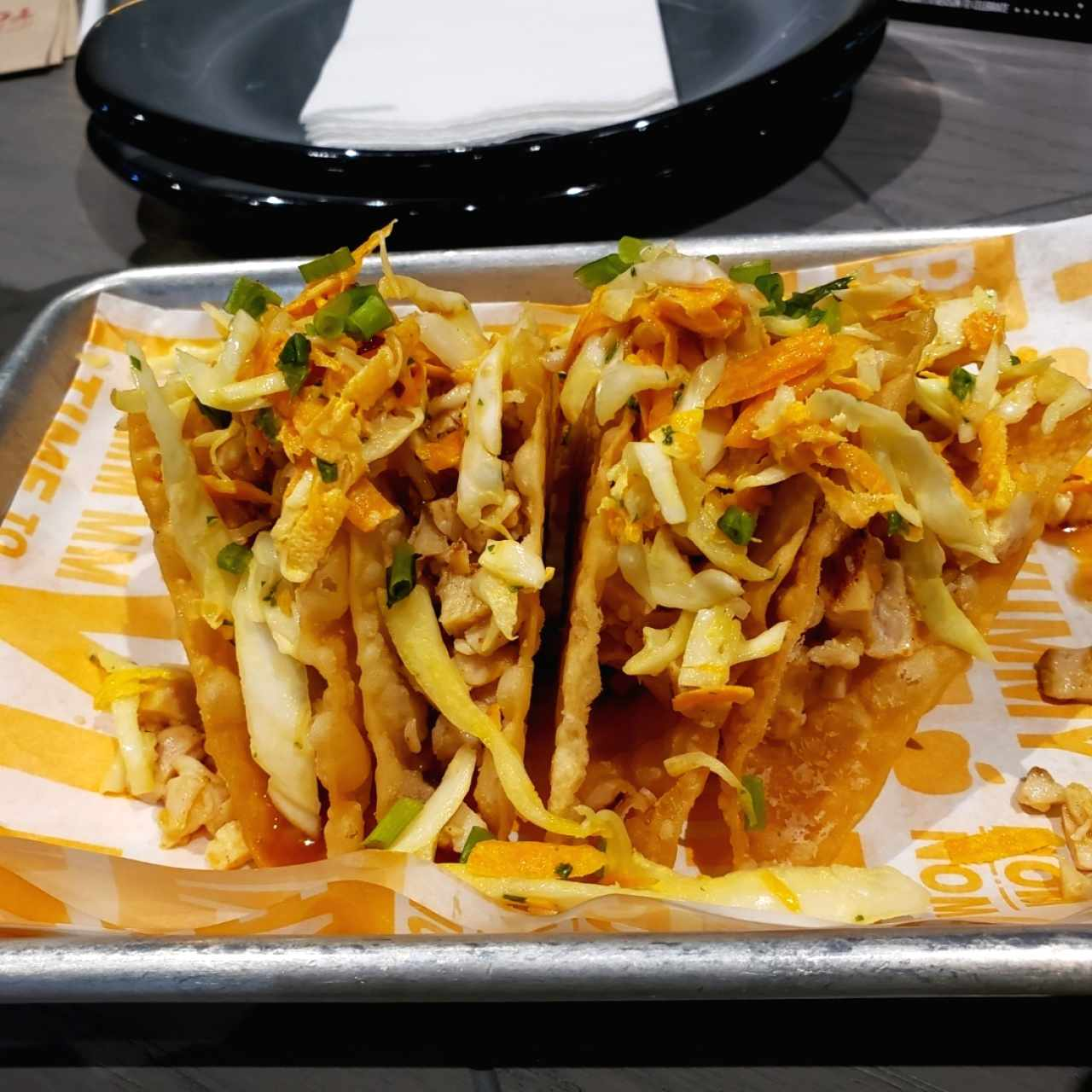 grilled chicken wanton tacos