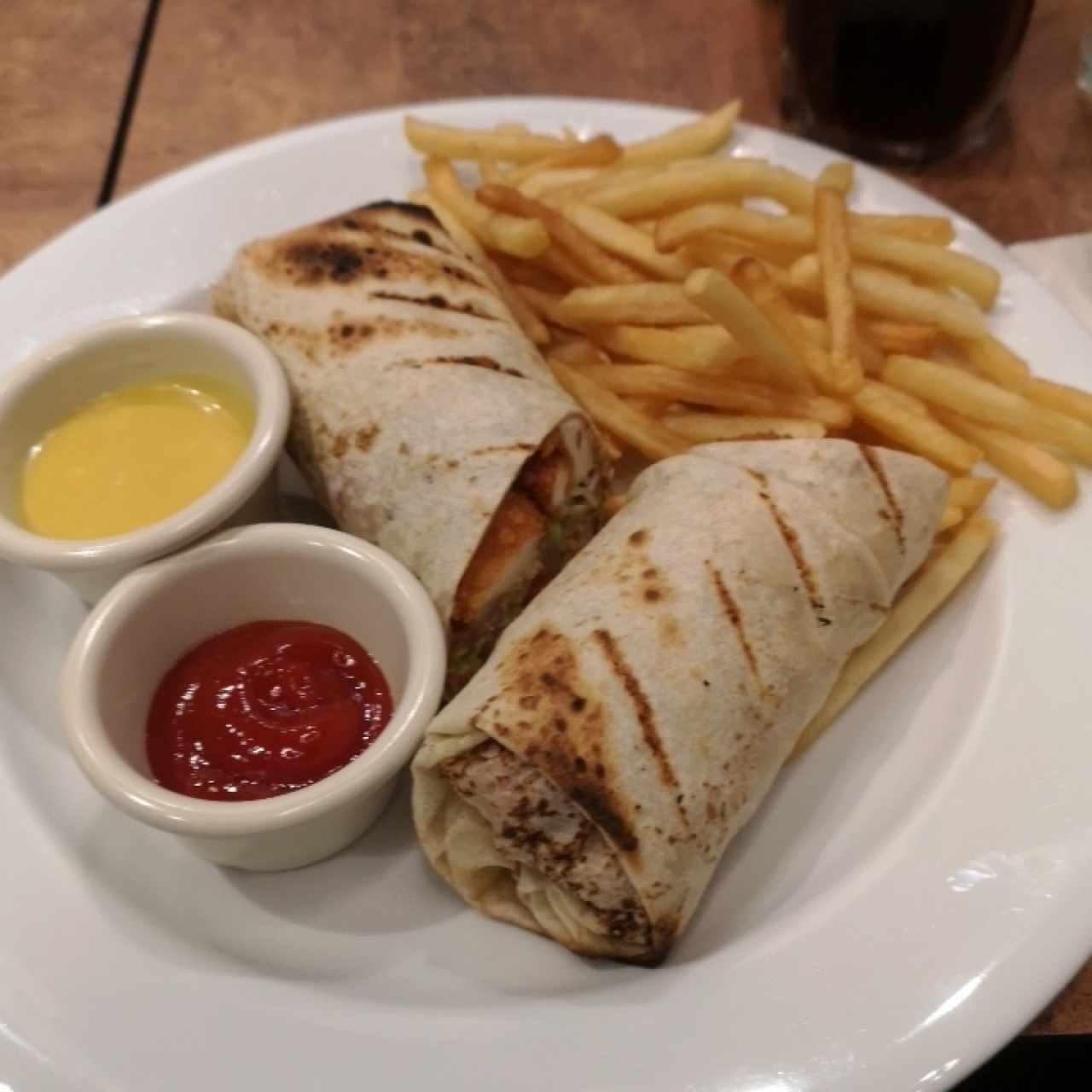 wraps de pollo crunch