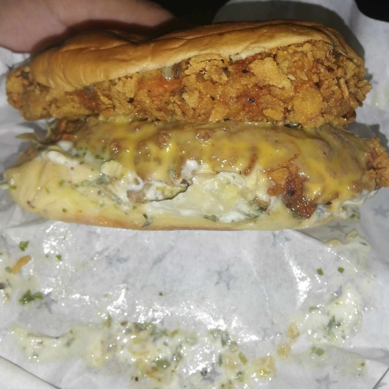 Sanwich doble de pollo con xtra queso