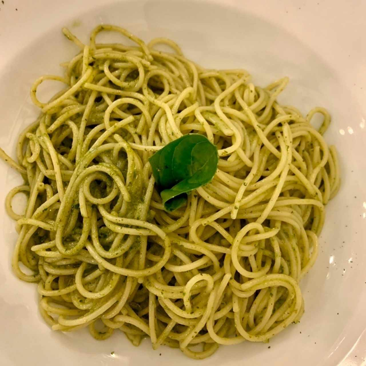 spaghettinni al pesto