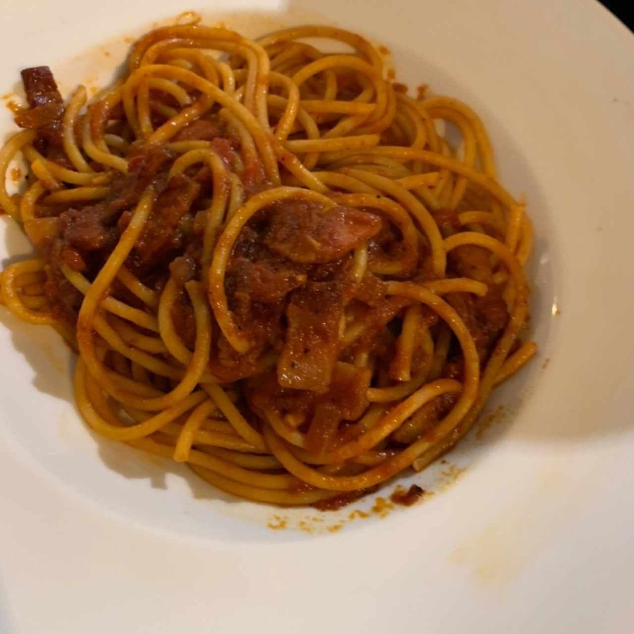 bucatini a la amatriciana
