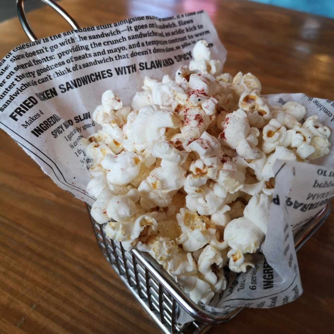 Pop Corn de Cortesía