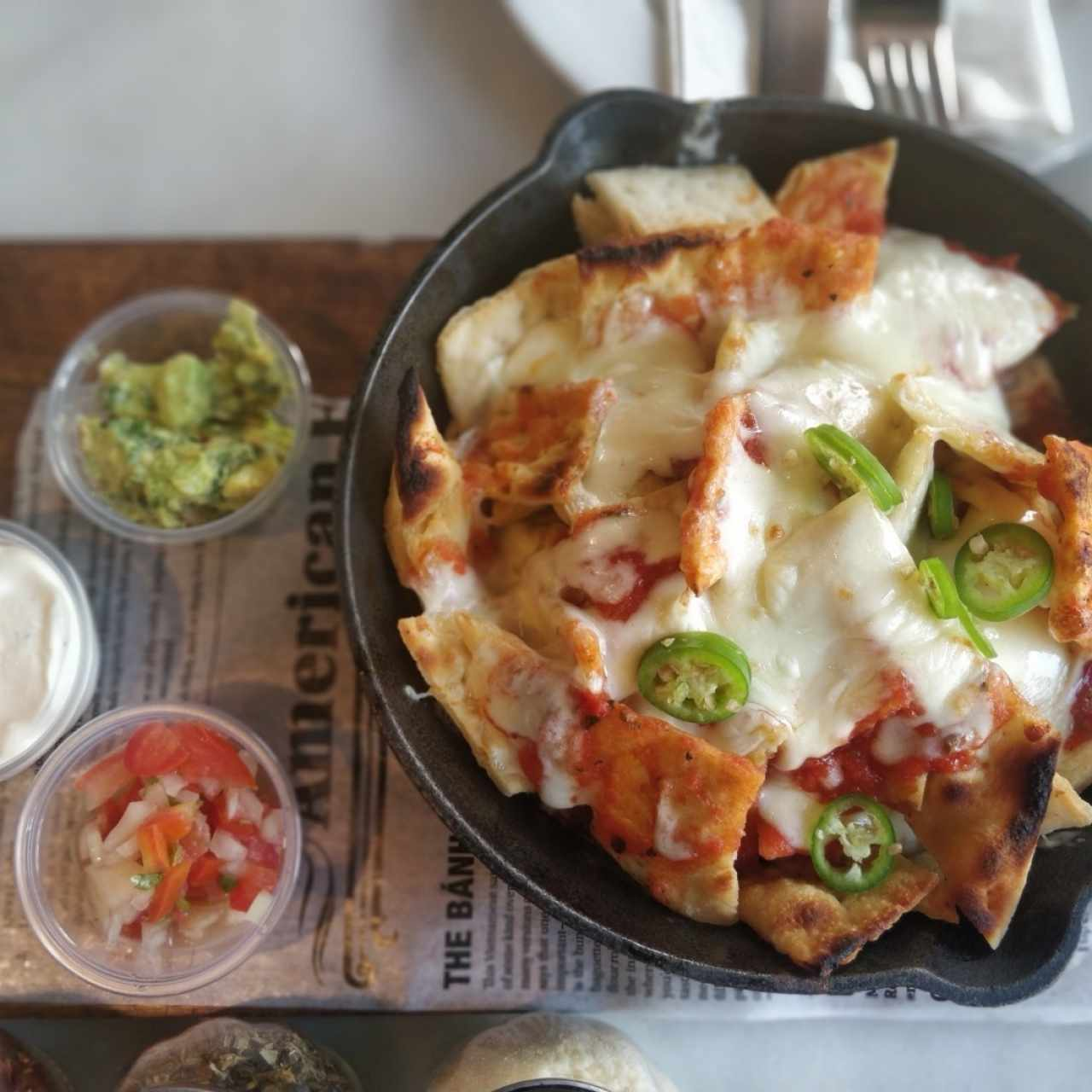 Nacho pizza
