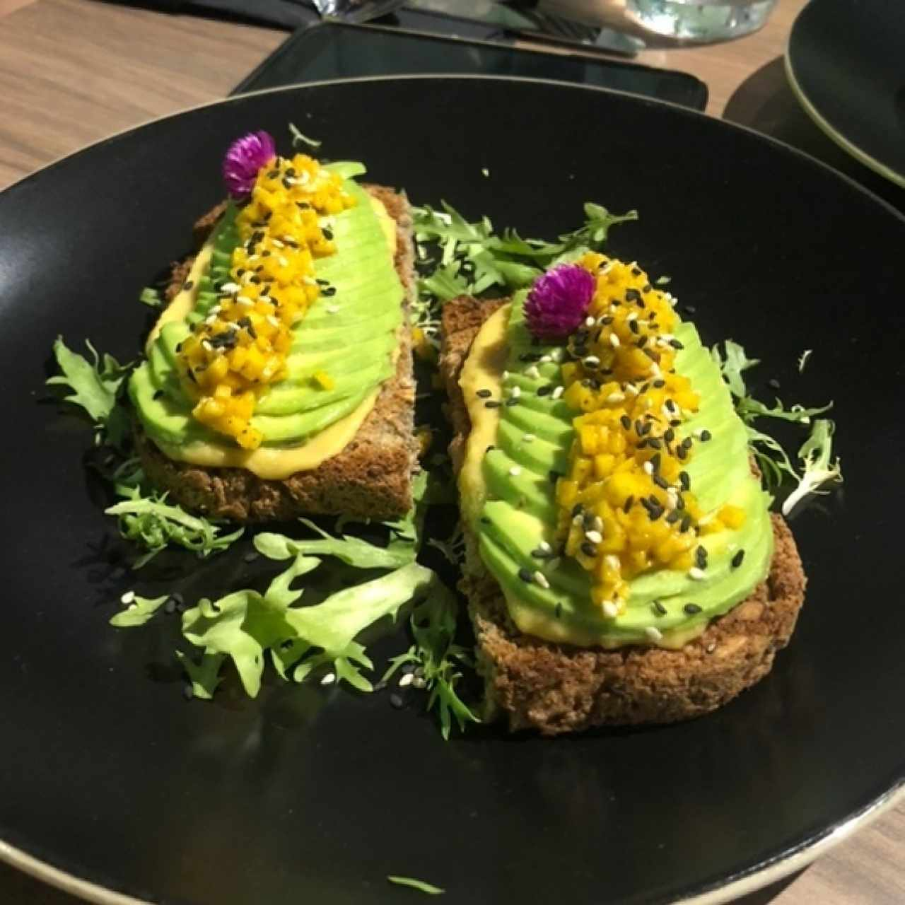 mango curry toast