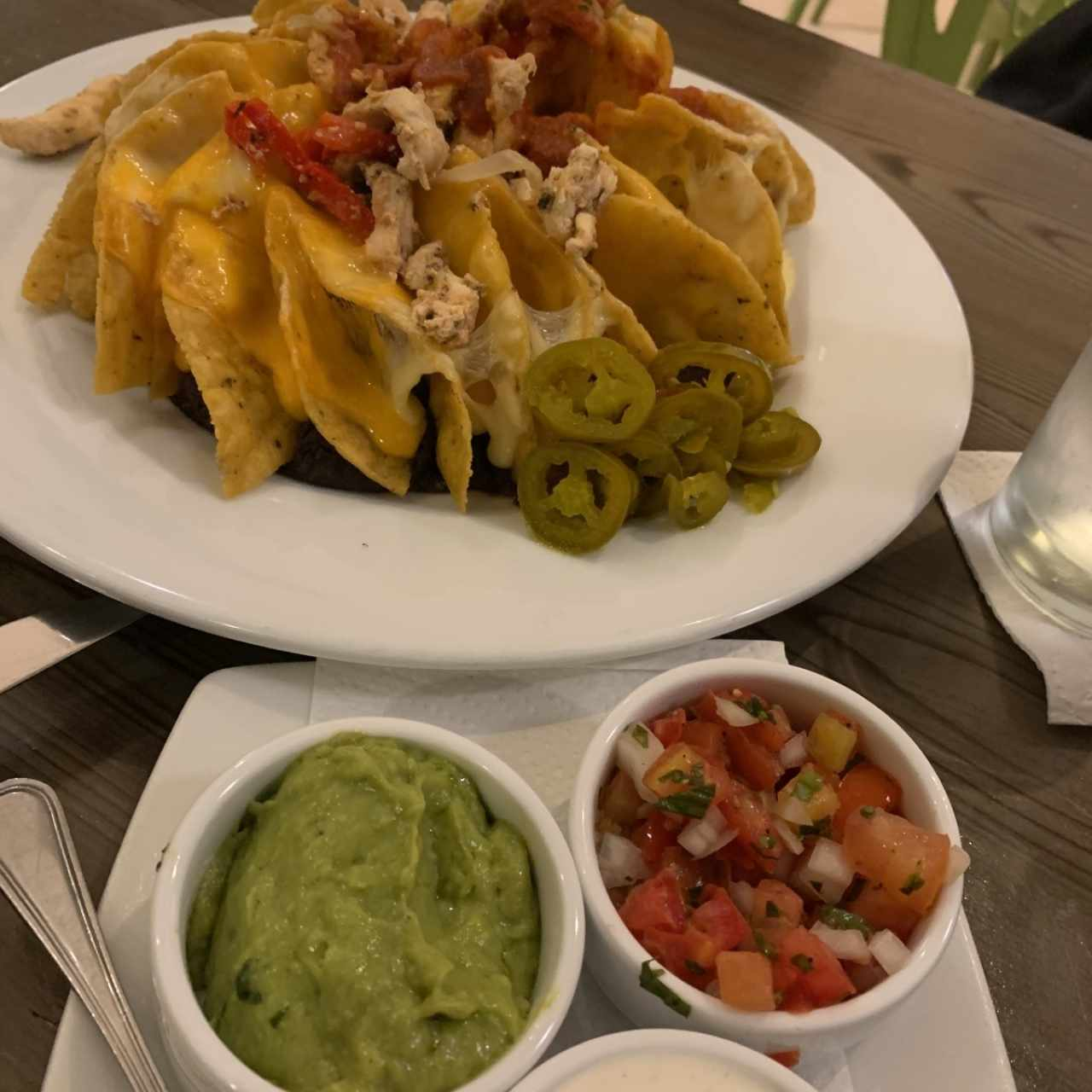 super nachos con pollo