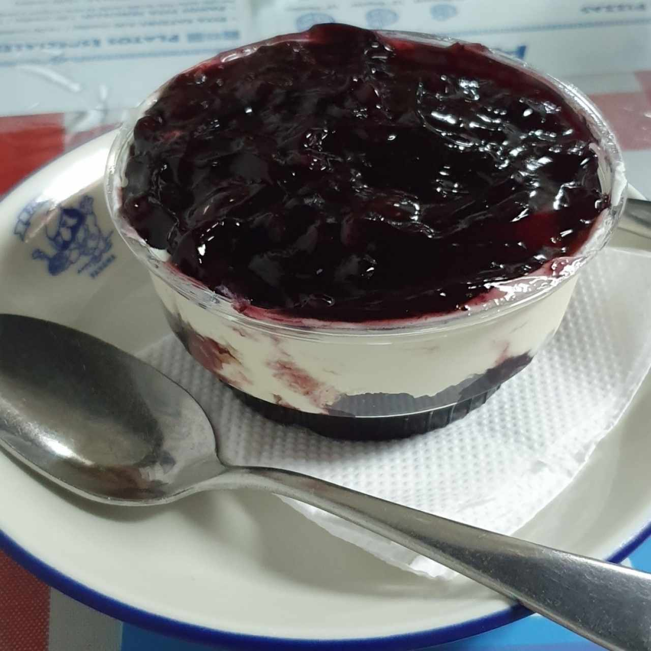 yogurt con blueberry