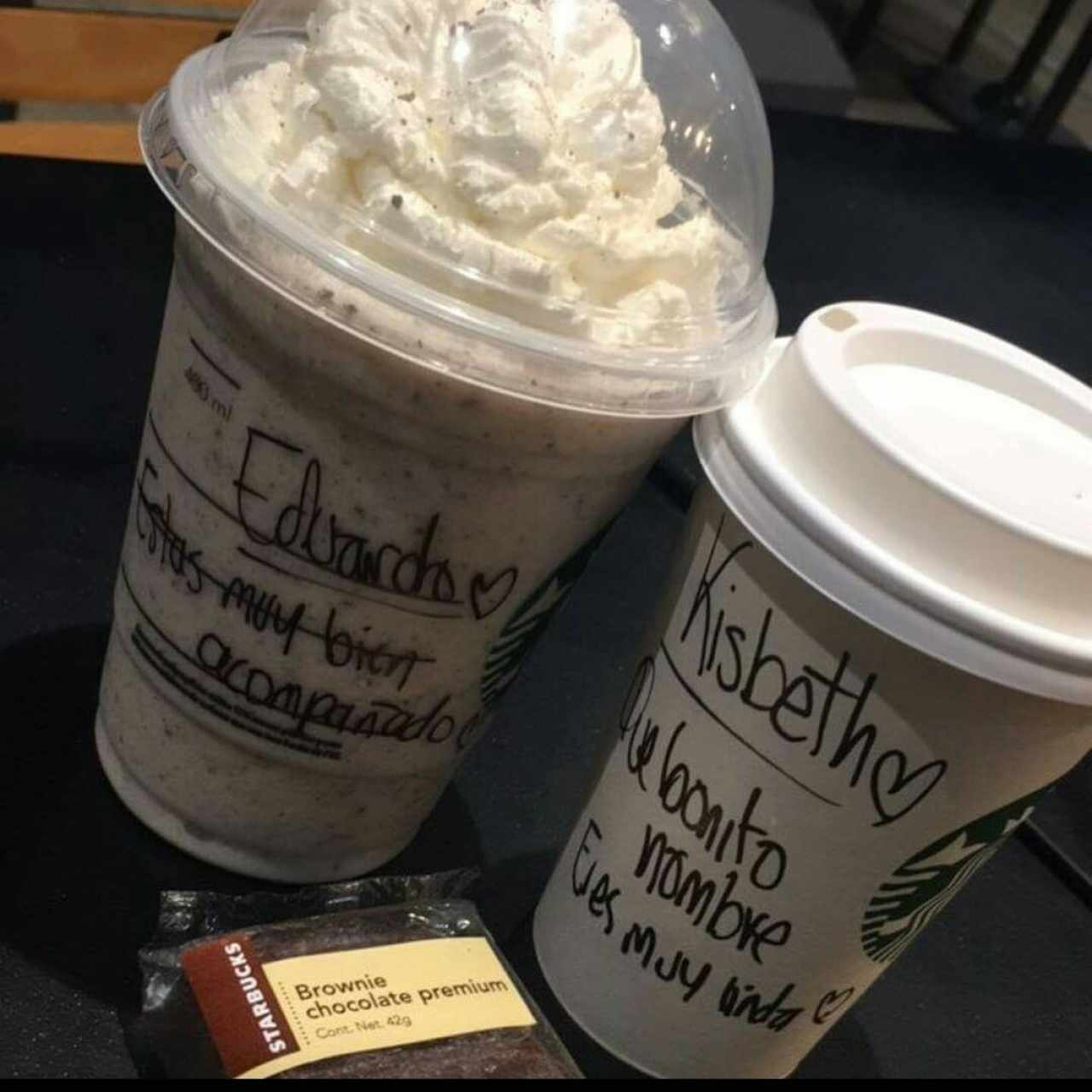Mocca, Frapuccino y brownie