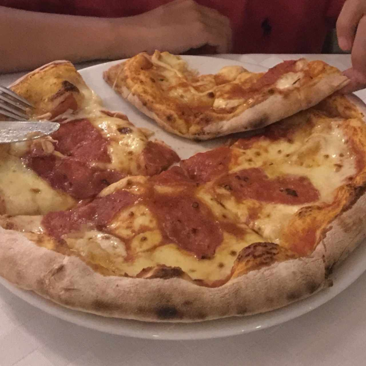 pizza de salame italiano