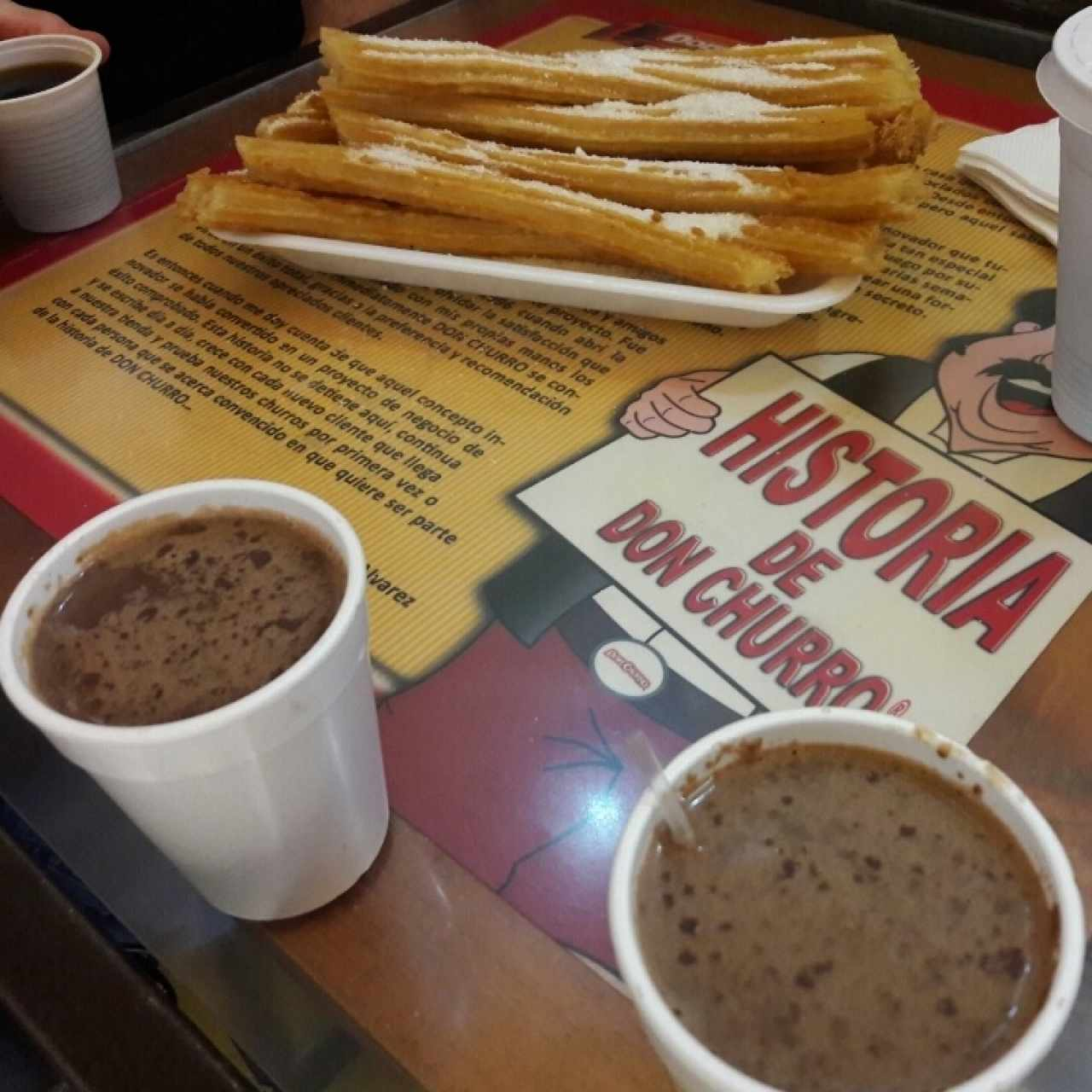 Churros + Chocolate Caliente