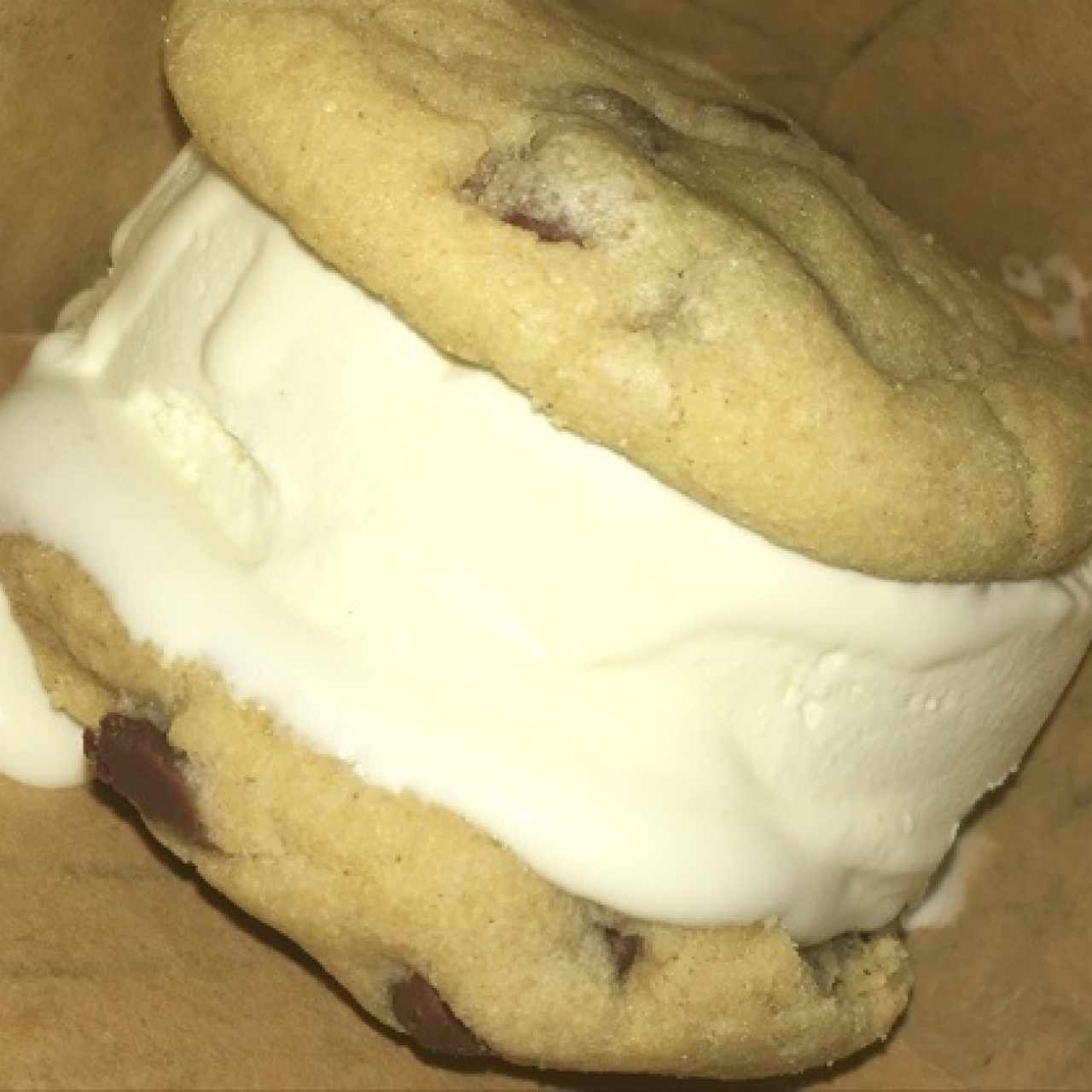 galleta con helado