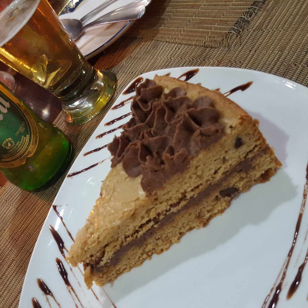 Torta de galleta chocolate chip y nutella